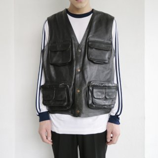 old utility leather vest