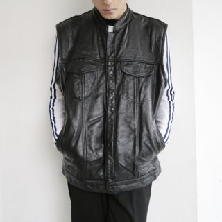 old trucker leather vest