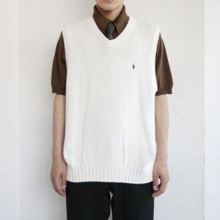 old polo ralph lauren cotton knit vest