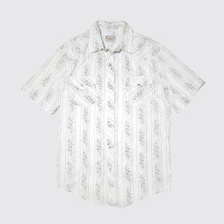 vintage flower western h/s shirt