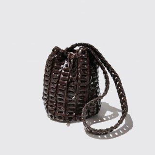 vintage braided leather bag