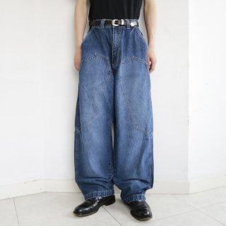 old kani jeans knee pocket baggy jeans