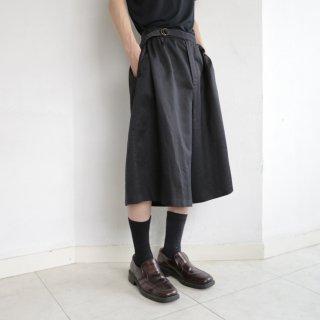 vintage belted qulotte shorts