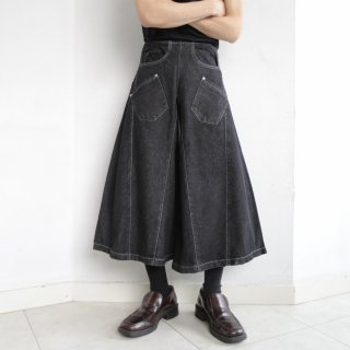 old draping qulotte jeans