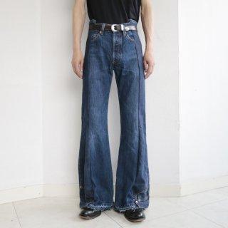 remake upside down denim pants