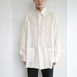 old broiderie silk shirt