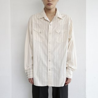 old stripe western shirt