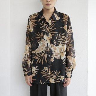old botanical sheer shirt