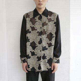 old oriental sheer shirt