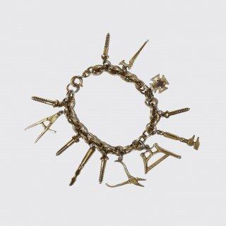 vintage freemason charm bracelet