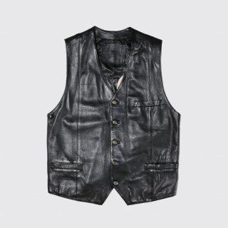 vintage broiderie leather vest