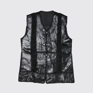 vintage lacing leather vest
