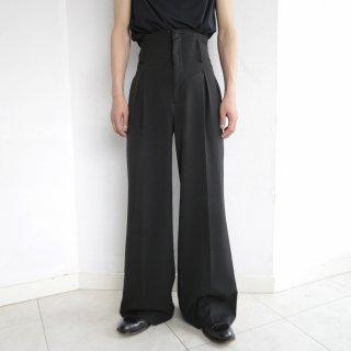 old narrow high waist wide flare slacks