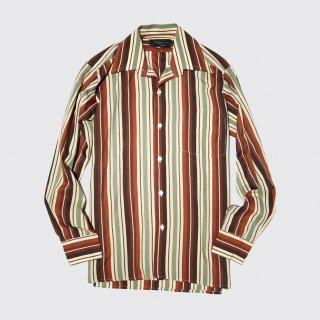 vintage stripe poly l/s shirt