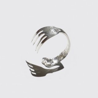 vintage tiffany cutlery bangle , motif-fork , sterling silver