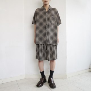 old geometry rayon h/s shorts set up
