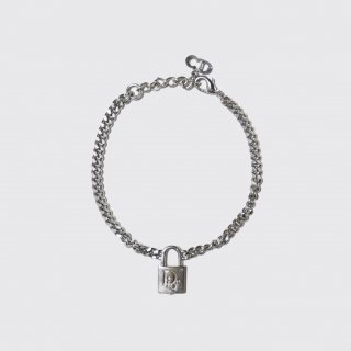 old dior padlock metal bracelet