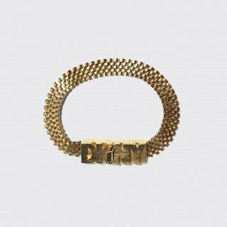 old donna karan metal logo bracelet