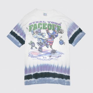 90's grateful dead steal your faceoff tee , body-liquid blue