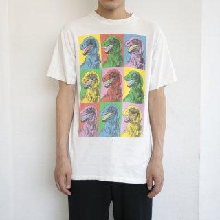 90's dinosaur art tee