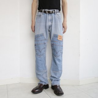 remake double knee jeans