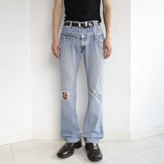 old double waist flare jeans