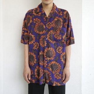 old sun flower rayon h/s shirt