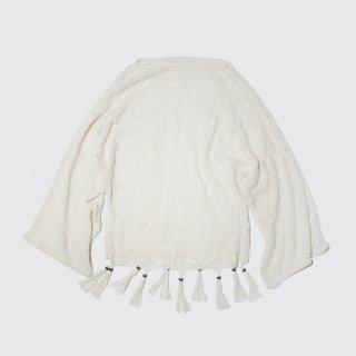 vintage lace fringe tunic