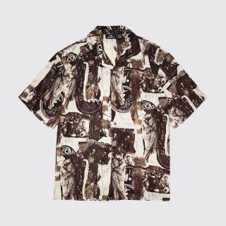 vintage jazz pattern h/s shirt