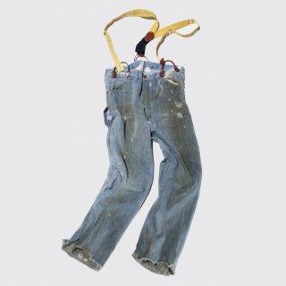 vintage broken jeans , with suspender