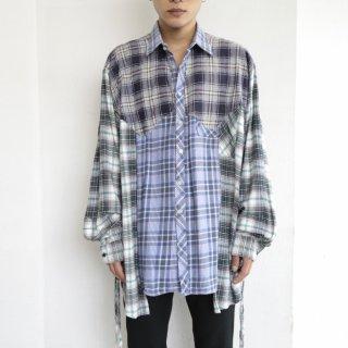 remake crazy pattern western shirt