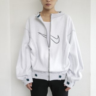 remake inside out reversible sweat jacket