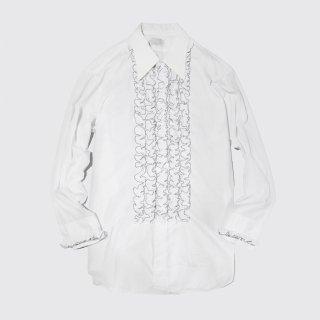 vintage arrow frill shirt