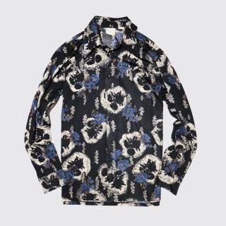 vintage sears flower poly shirt
