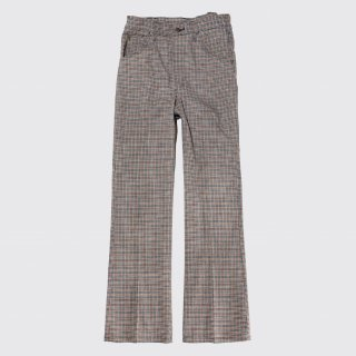 vintage lee check flare trousers