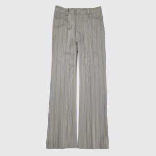 vintage stripe poly flare trousers