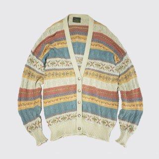 vintage scottish pattern cardigan