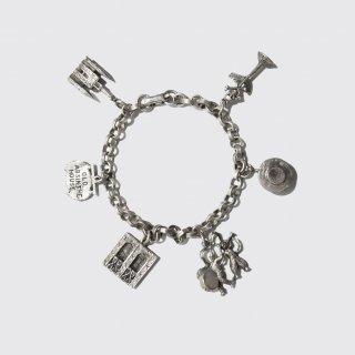 vintage metal charm bracelet