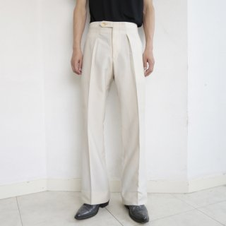 vintage 1tuck poly trousers