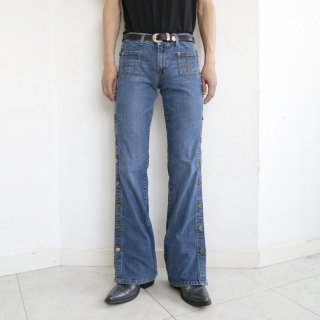 old stretch side snap jeans