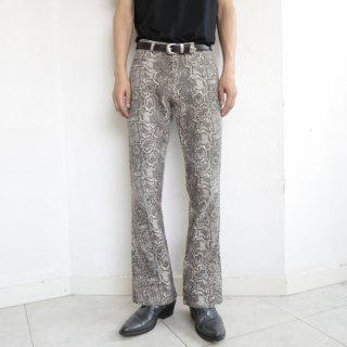 old python flare trousers