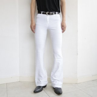 old cross stretch flare trousers