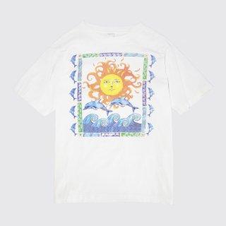 90's sun and dolphin art tee