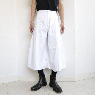 old denim culotte shorts