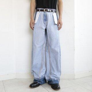 remake rebuilding wide jeans
