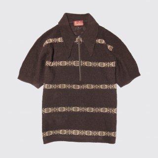 vintage sears zip knit polo h/s