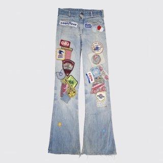 vintage gaslight custom flare jeans
