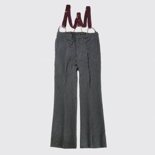vintage read&white tailor stripe slacks with suspender