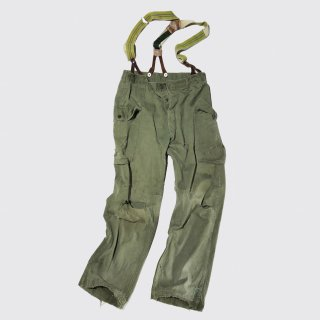 vintage 40's usarmy m-43 broken hbt cargo trousers with suspender