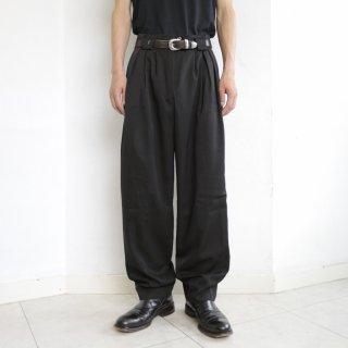 old high waist box tuck tapered slacks